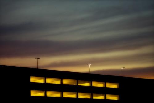 vegas sunset usa america unitedstates parkinggarage lasvegas 10 nevada unitedstatesofamerica clarkcounty fav10