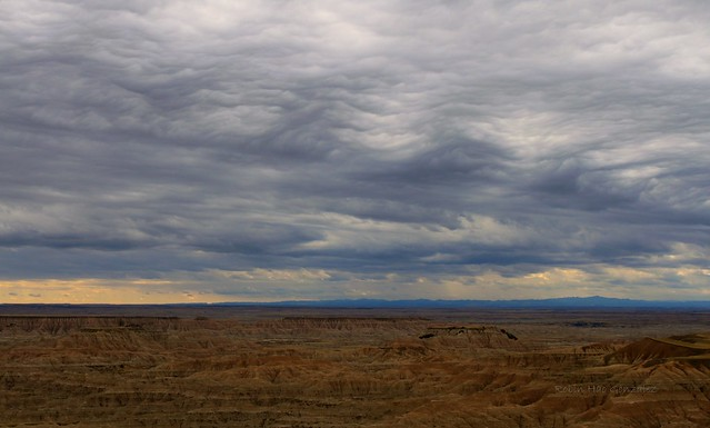 Interesting clouds over the Badlands today!