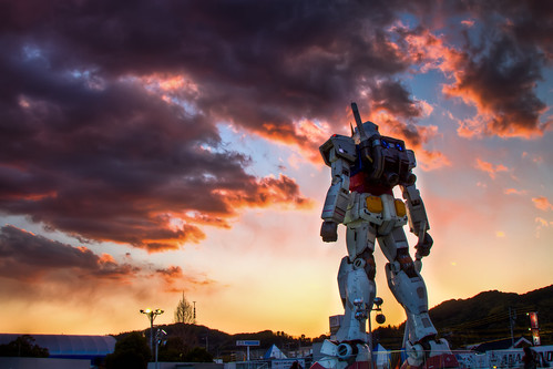 Photo:Gundam Sunset By:arcreyes [-ratamahatta-]