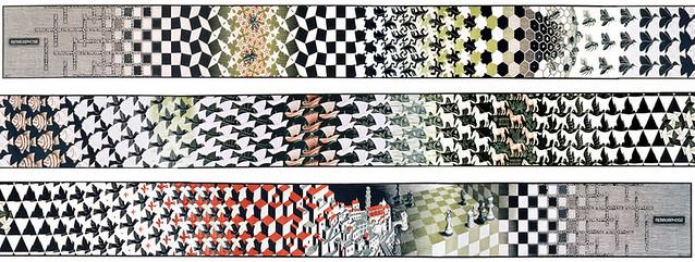 Metamorfosis II (Metamorphosis II). M.C. Escher, 1939 - 1940.