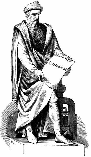 Statue de Gutenberg