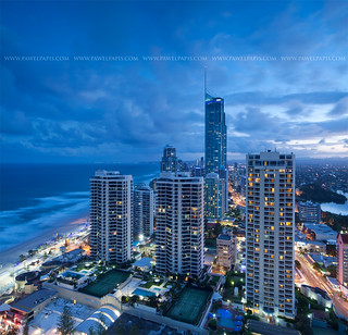 Gold Coast at dusk