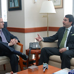 Arturo Valenzuela meets with Federico Franco the Vice President of Paraguay