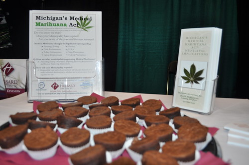 5613435854 cb78631a72 Hubbard Law Firm Medical Marijuana Display at 2011 Michigan Municipal League Capital Convention Expo
