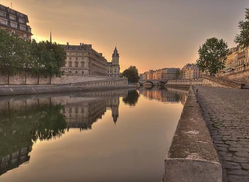 paris france seine sunrise reflections de gold la soleil justice europa europe or cité ile reflet palais hdr lever fleuve platinumheartaward sonya550