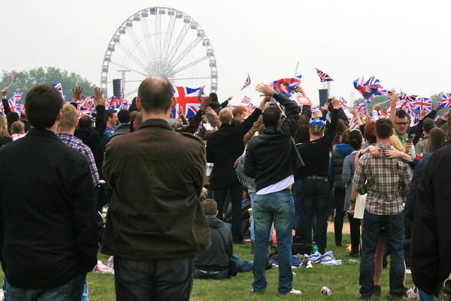 Union Jacks in Hyde Park