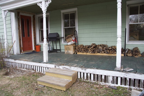 built new front steps