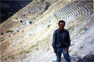 Image of Pergamon near Bergama. 2001 trip turkey geotagged greek theater roman ruin hellenistic pergamon bergama geo:lat=39131908478220694 geo:lon=27183569110450776
