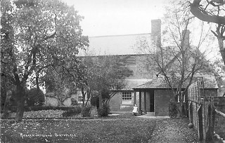 Coate Farm - back garden, circa 1911. The Ferris family were living in the house at that time.