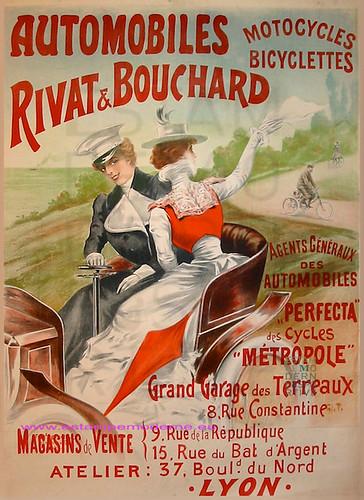 TICHON automobiles Rivat & bouchard 93X130 ci 1895 by estampemoderne