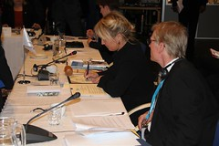 Lene Espersen signing the Nuuk Declaration