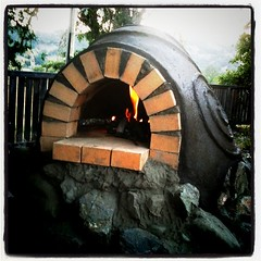 Beautiful day in Potter Valley w/family, and our cob oven project is finally finished.  Well almost...