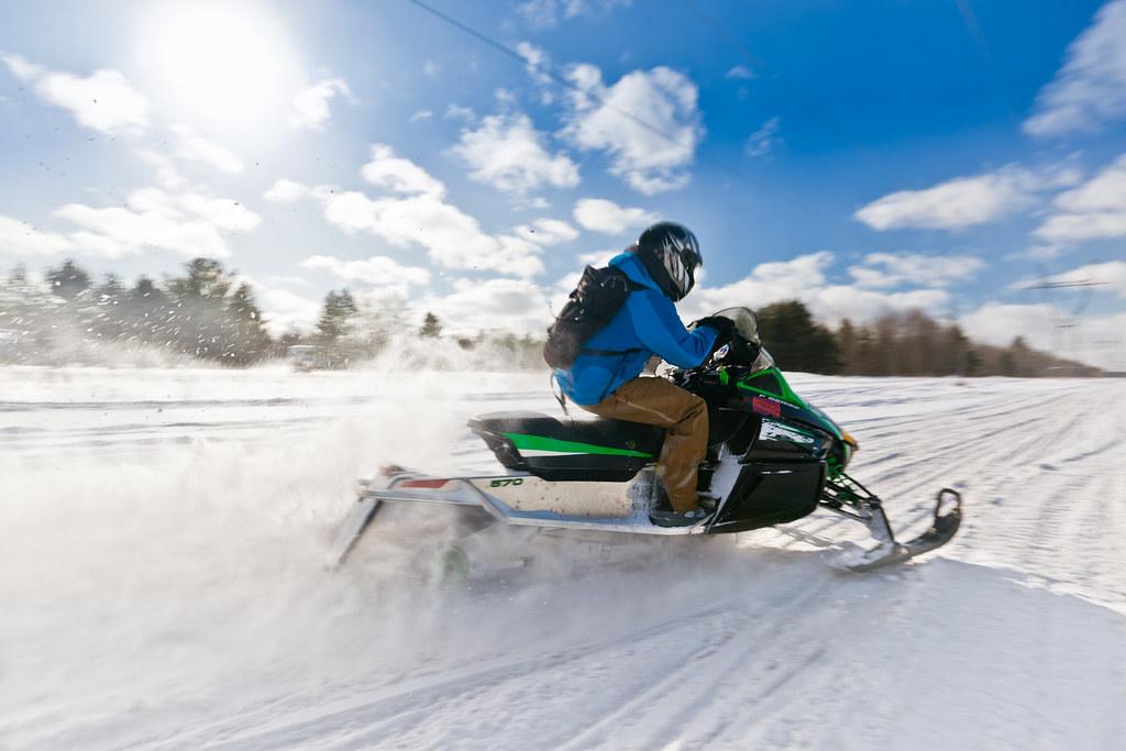 Pure Michigan Winter. Snowmobiling.
