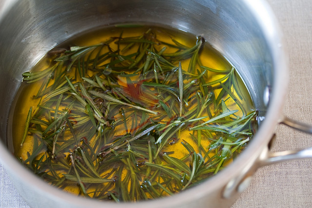 Steep the rosemary in the olive oil