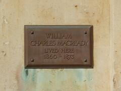 Photo of William Macready bronze plaque