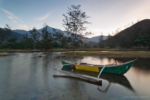 mountains beach grass sunrise boat cove philippines greens yellows luzon zambales nipahut pundaquit nagsasa nagsasacove