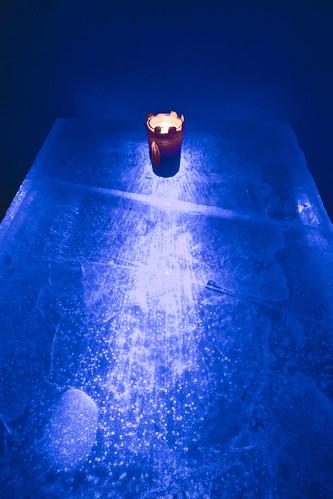 light snow castle ice finland table restaurant glow illumination kemi