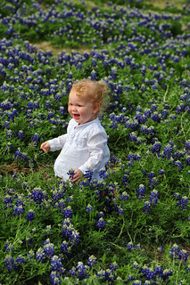 A Happy Moment in the Bluebonnets