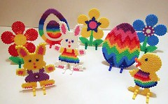 Easter Hama Bead Display