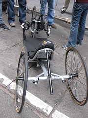 wheelchair(0.0), road bicycle(0.0), bmx bike(0.0), sports equipment(0.0), baby carriage(0.0), carriage(0.0), bicycle(0.0), cart(0.0), wheel(1.0), vehicle(1.0), land vehicle(1.0), tricycle(1.0),