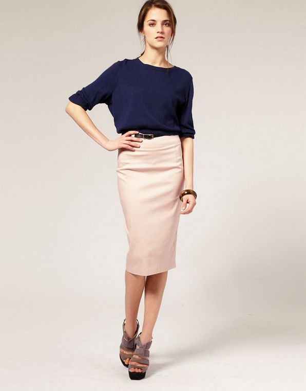 ASOS Belted Corset Waist Pencil Skirt