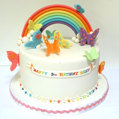 Birthday Cake Rainbow Design : Artificial Colors: Butterfly Rainbow Cake by flickr