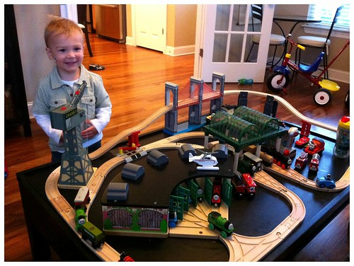 Two Year Old Train Fan
