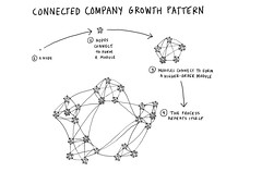 Connected company growth pattern