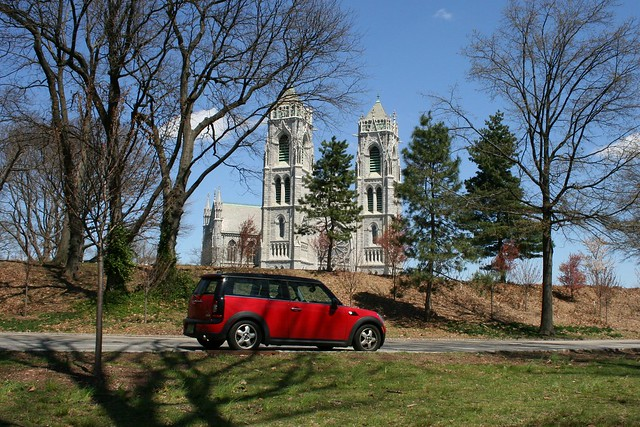Sacred Heart Cathedral, with Mini Clubman