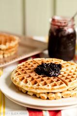 Honey-buttermilk waffles