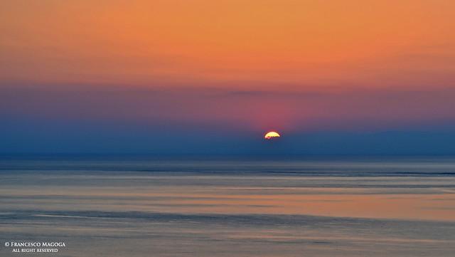 Sundown moment at Framura