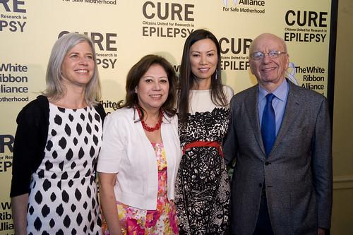 Susan Axelrod, Secretary Solis, Wendi and Rupert Murdoch,