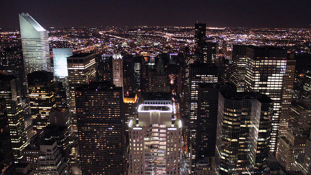 0215 - USA, New York, Night City View