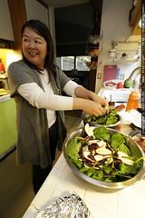 darika creating a salad