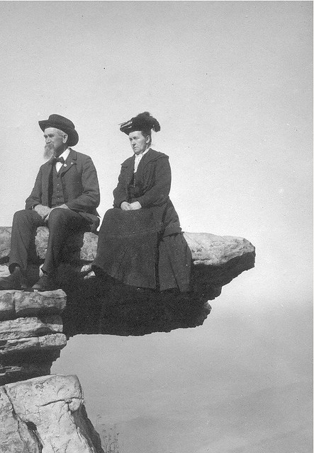Silas Benjamin Anway with Second Wife on Umbrella Rock