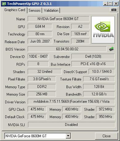 GPU-Z pred popravilom
