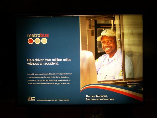 Metrobus image advertising campaign, WMATA