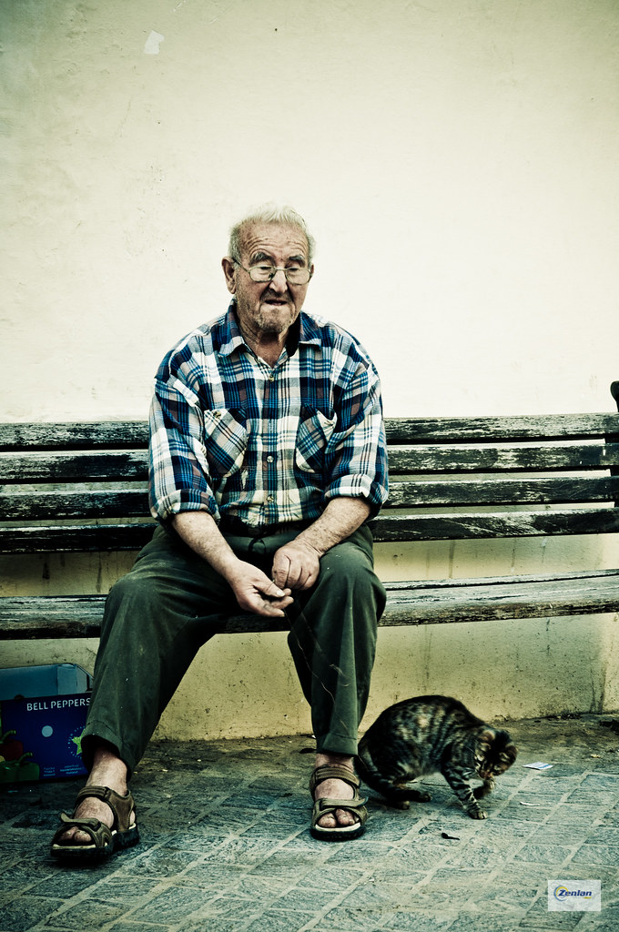 Man with Cat