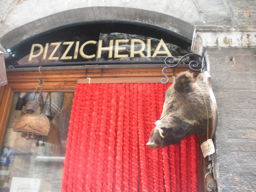 A meat shop in Siena