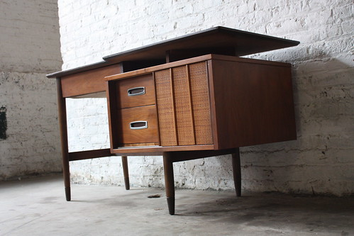 Hooker Mainline Mid Century Walnut Desk