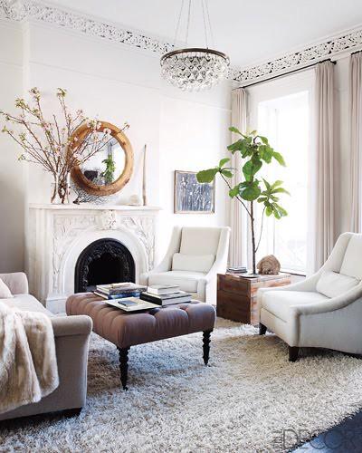 William Waldron / Keri Russell via Elle Decor {living room}