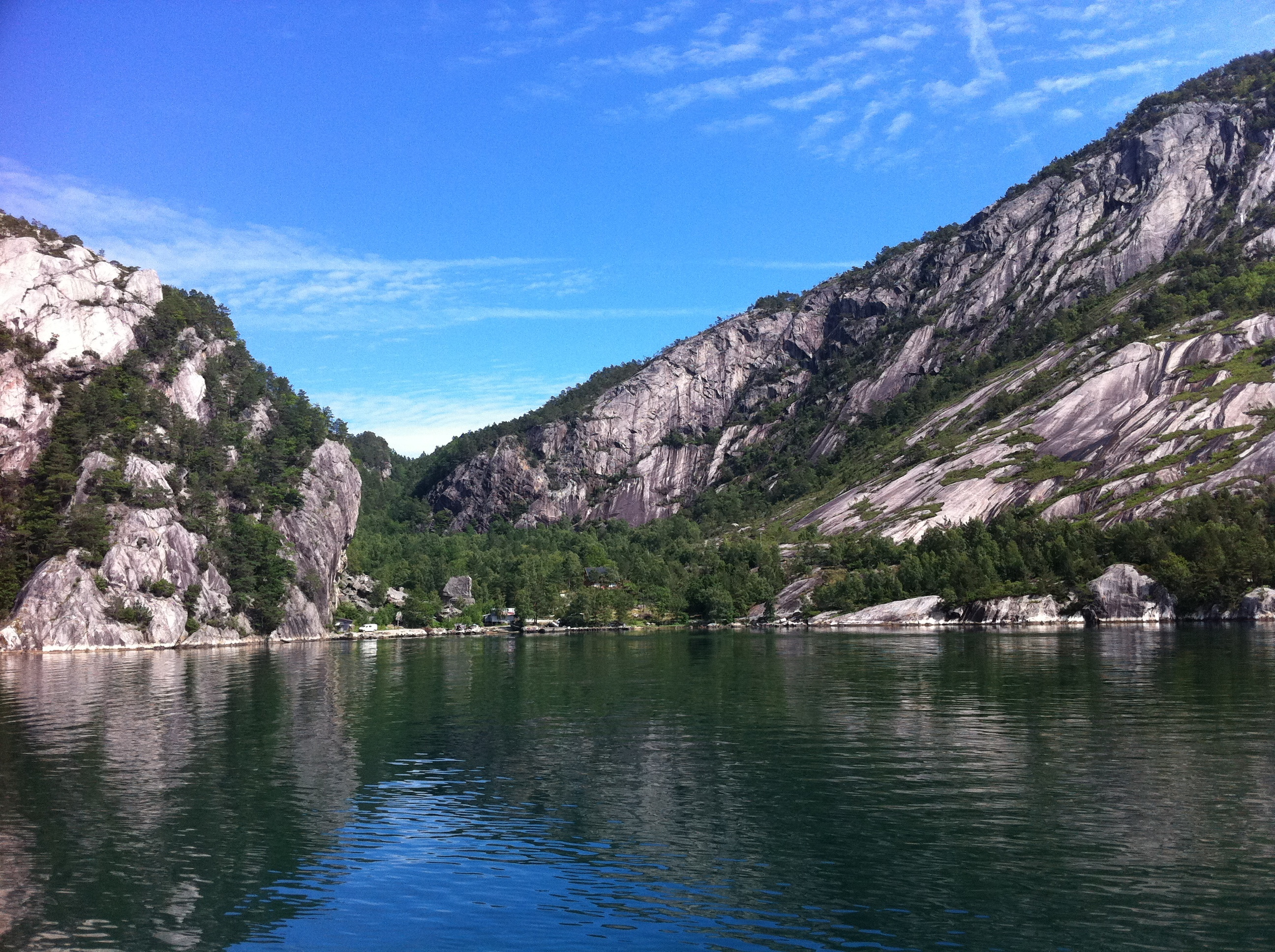 Copper Mine in Lysefjord, one of the many sights to be seen on the boat tour