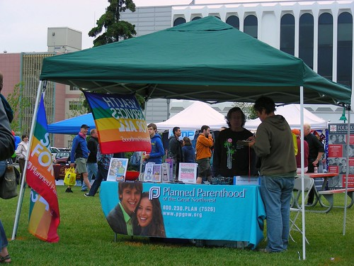 Planned Parenthood of the Great Northwest at Alaska Pride Fest 2011