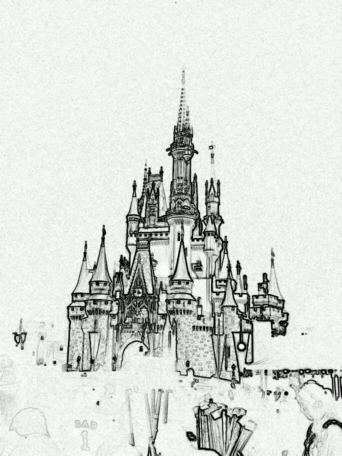 Easy Cinderella Castle Sketch Templates