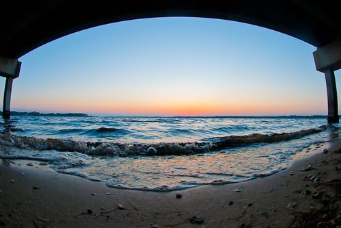 sunset fisheye lynnhaven highway77 baileybridge