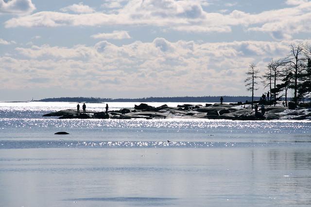Mar de Helsinki en primavera
