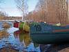 fifth season in Soomaa - canoes waiting