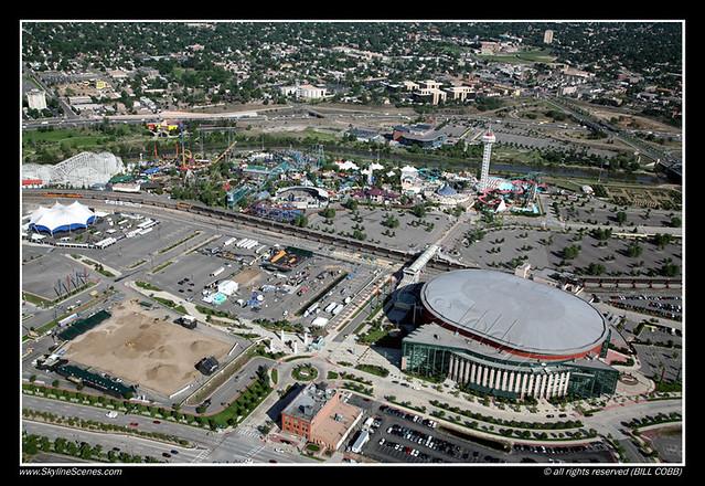 Pepsi Center And Elitch Gardens Denver Flickr Photo
