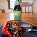 Stuffed Pepper, Beer, and Spilled Delicious Innards by thp365