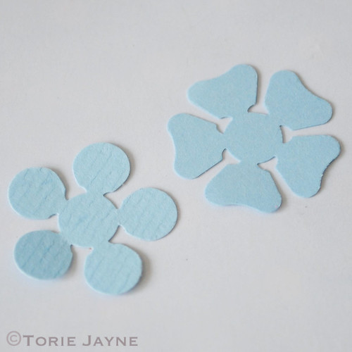 Making Paper Blue Flowers